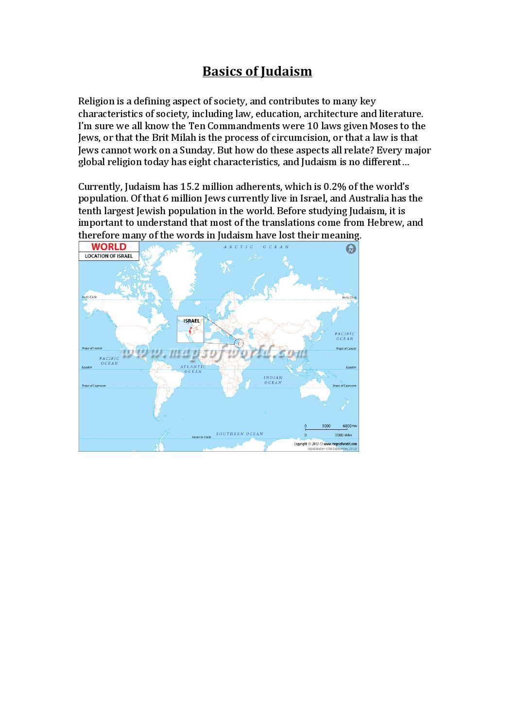 Basics of judaism pdf version by Lukeg_35 - issuu