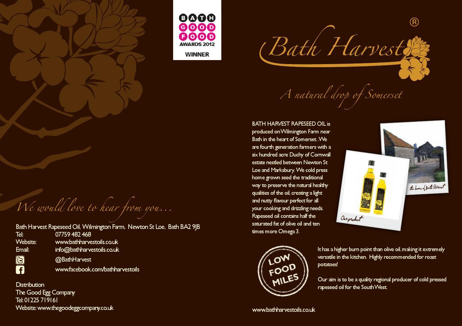 Bath Harvest Rapeseed Oil by Debbie Keeling - issuu