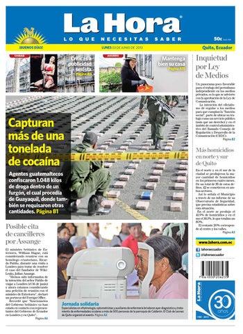068f9a8647 Edición impresa Quito del 3 de junio de 2013 by Diario La Hora ...
