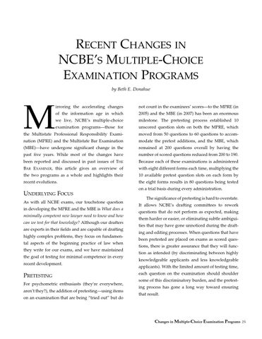 Mbe Format Changes By Blueprint Jd Issuu