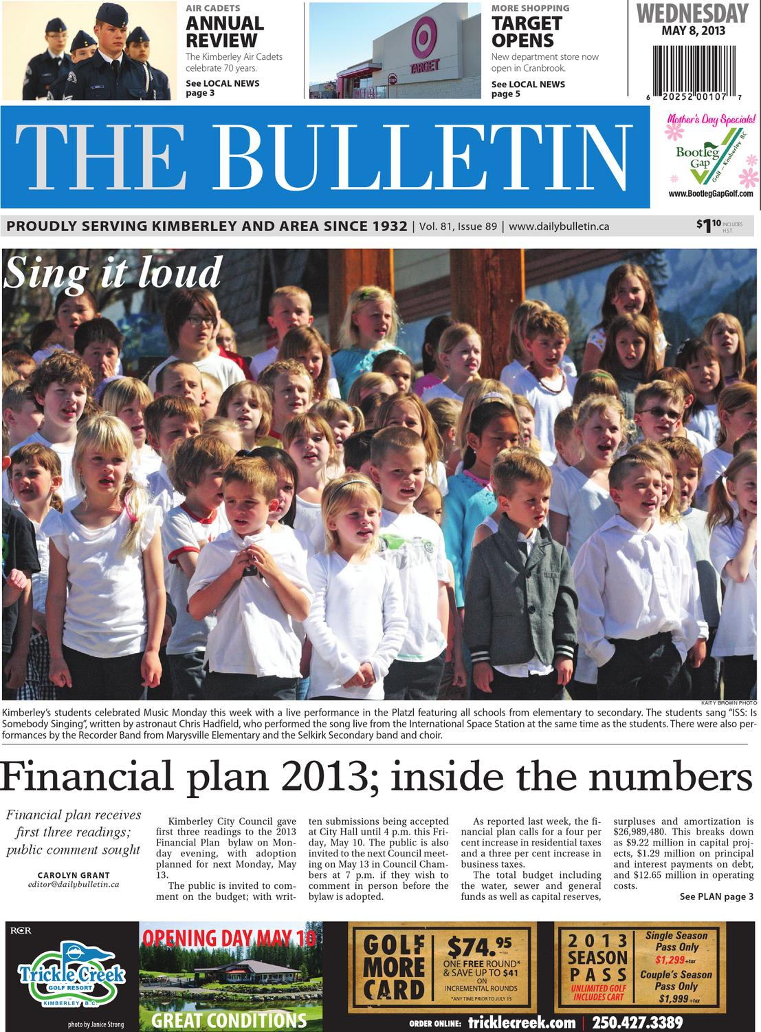 Kimberley Daily Bulletin, May 08, 2013 by Black Press - issuu