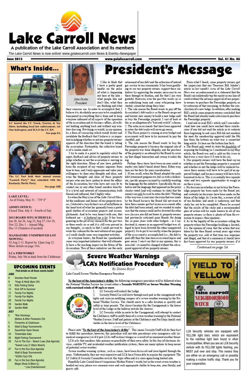 6b23ad72f6f Lake Carroll News June 2013 by Lake Carrol News - issuu