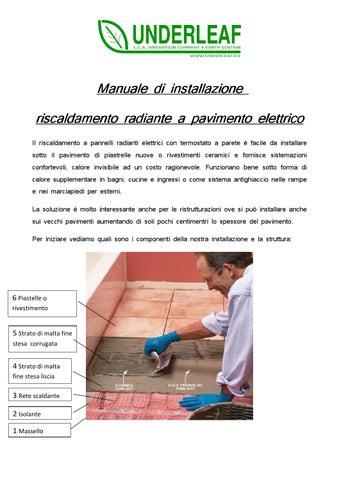 Manuale Installazione Pavimento Elettrico Cavo Underleaf