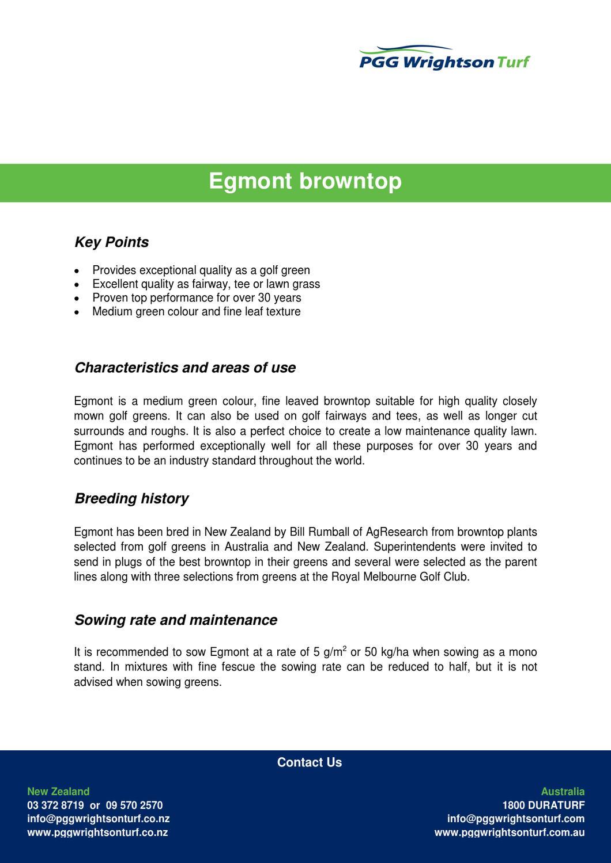 egmont by PGG Wrightson Turf - issuu