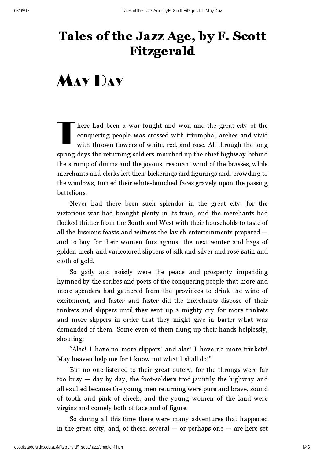 May Day F Scott Fitzgerald By Publiletras Issuu border=