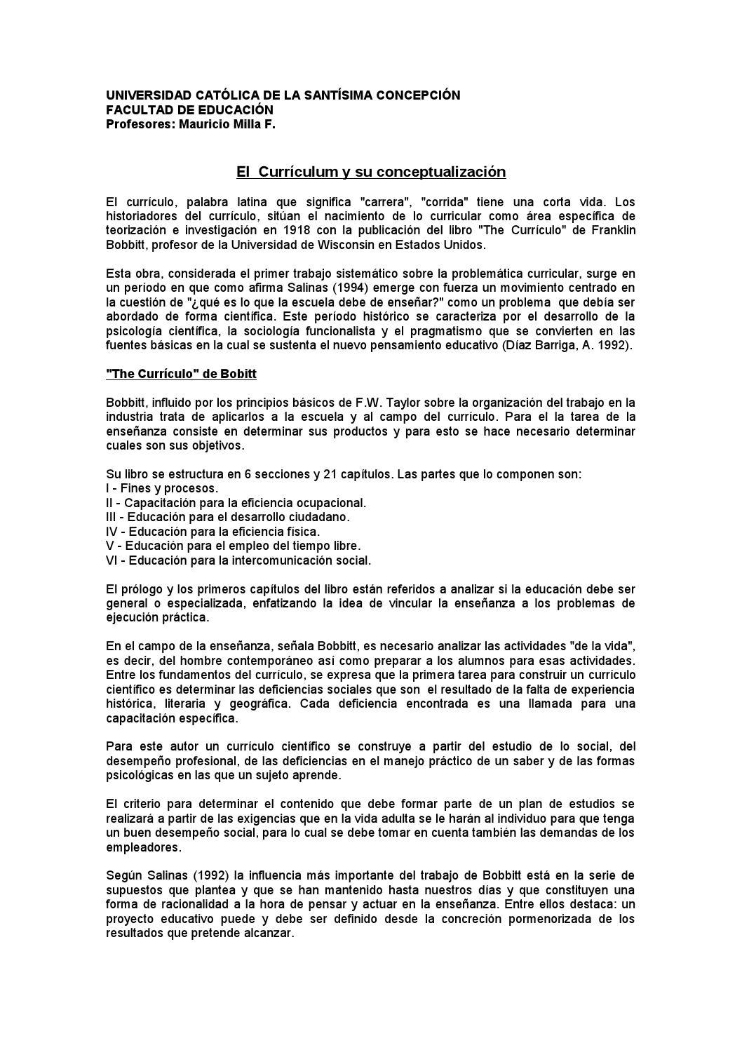 Conceptualizacion de curriculum by Isamar Toledo Catalán - issuu