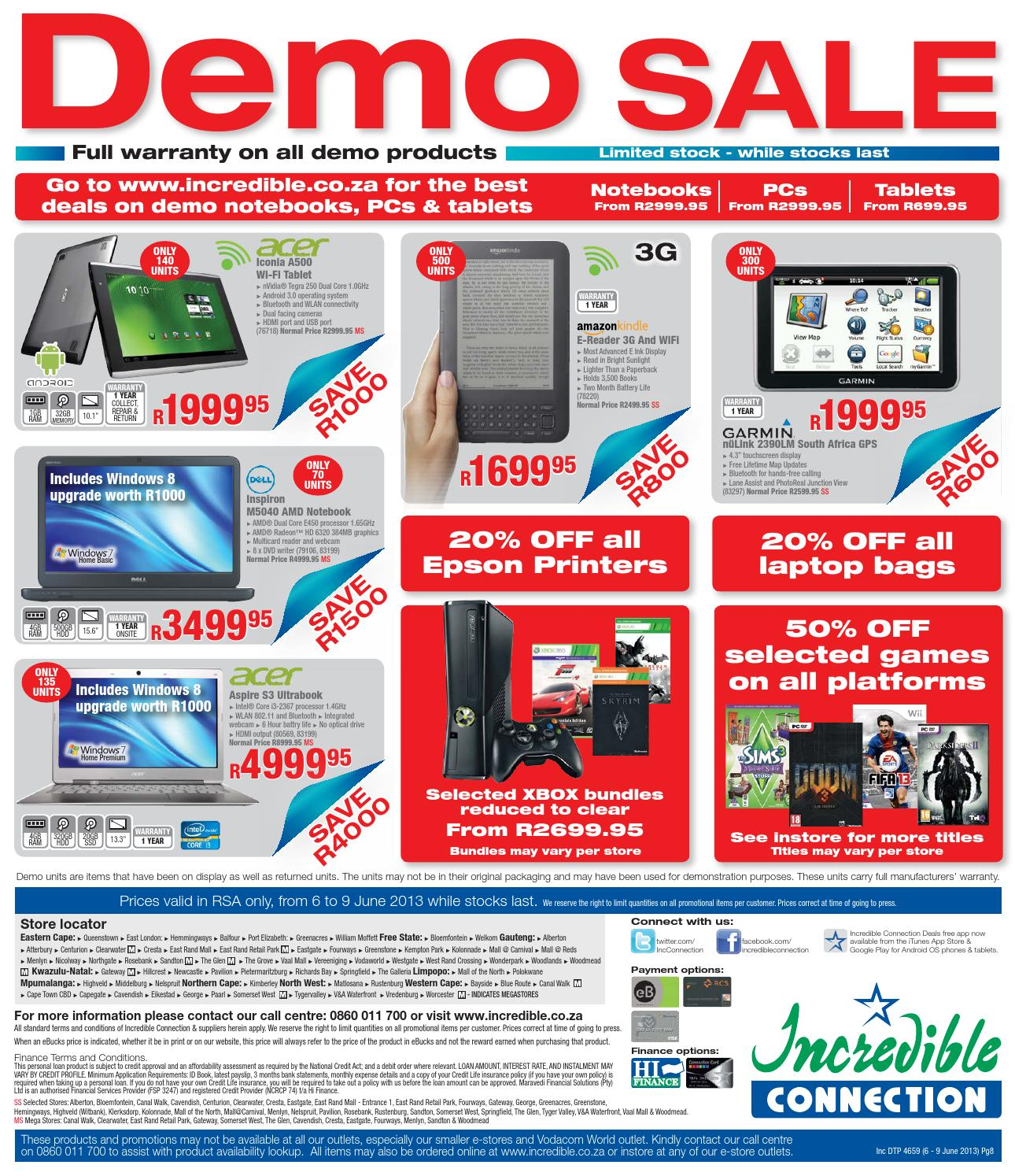 Incredible Connection Specials And Promotions 6 9 June 2013 By Hypertext Media Issuu