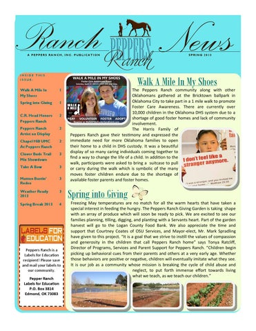 Spring newsletter revised spring 2013 by tonya ratcliff - issuu