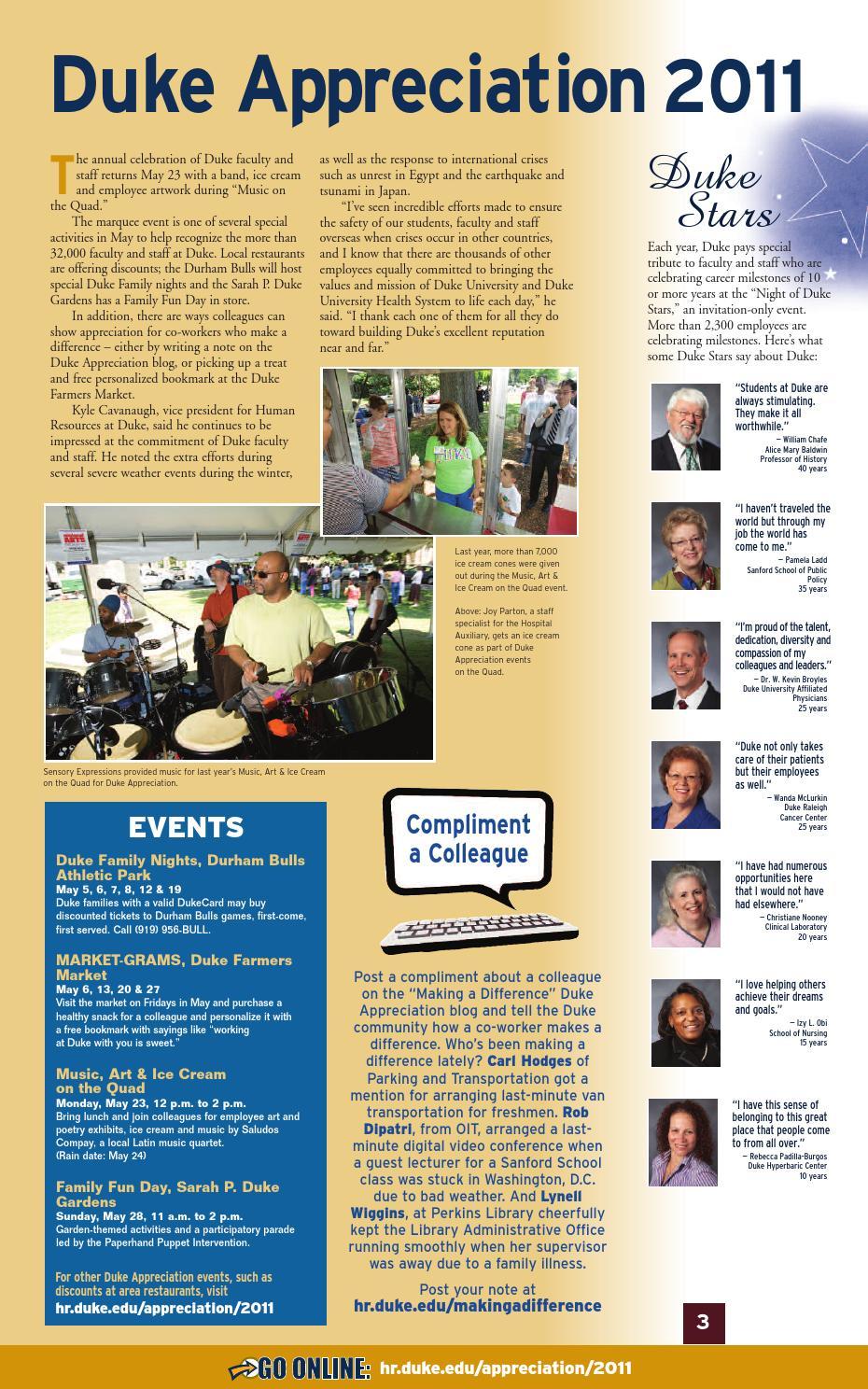 Working@Duke May, 2011 Issue by Working Duke - issuu