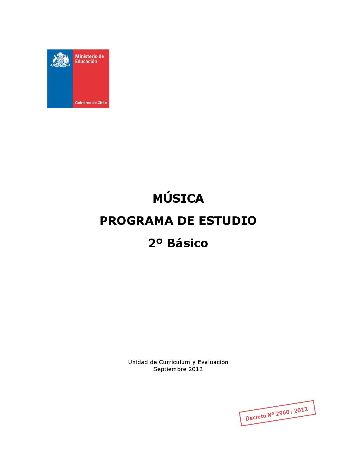 Programa Musica 2 Basico By Francisca Arauz Issuu