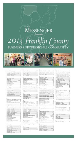 Meet Your Franklin County Business & Professional Community 2013