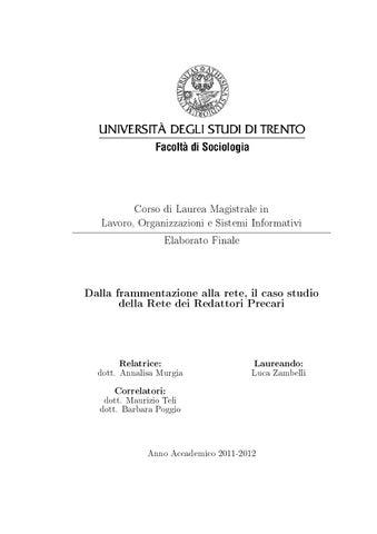 Corso di Laurea Magistrale in Lavoro 69dc6bae7d2d