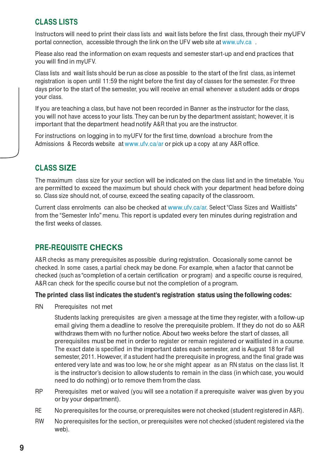 myufv FACULTY HANDBOOK 2012-2013 by University of the Fraser Valley - issuu