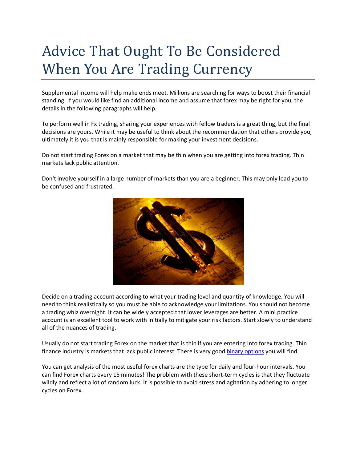 binary options daily tips for supervisors
