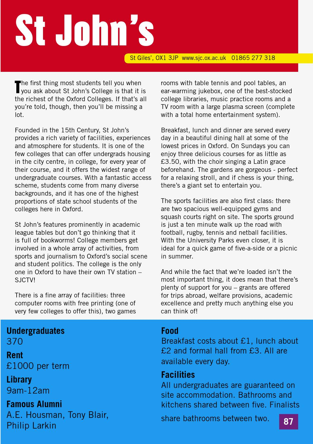 The Oxford University Alternative Prospectus By Facts About Very Large Array Student Union Issuu