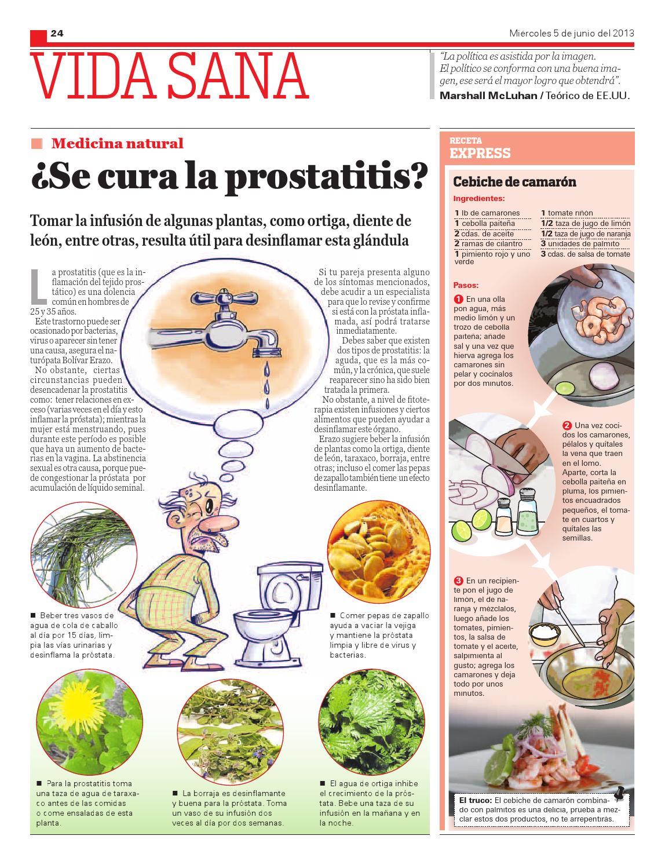 prostatitis que beber