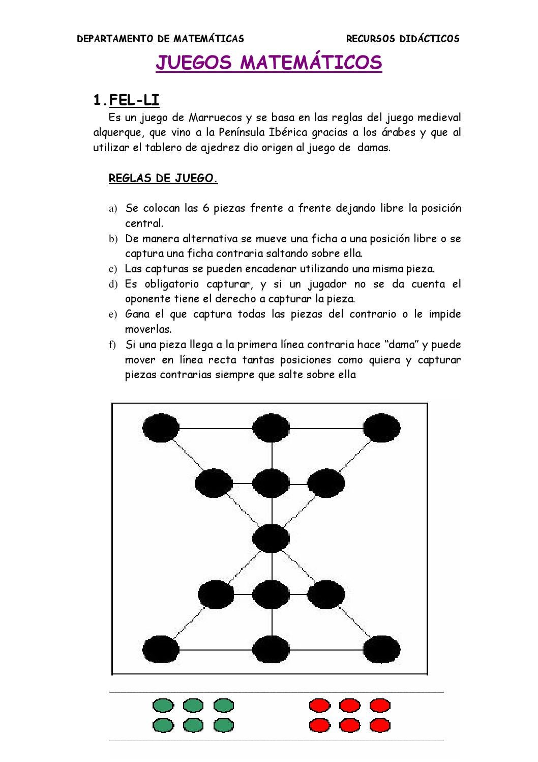 Juegos matemáticos by JULIA AGUILAR - issuu