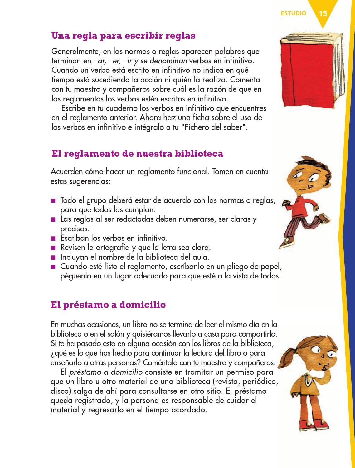 Espa ol 3er grado by rar muri issuu for Partes de una biblioteca