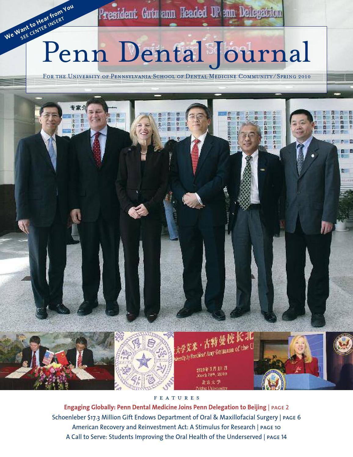 Penn Dental Journal Spring 2010 by Penn Dental Medicine - issuu