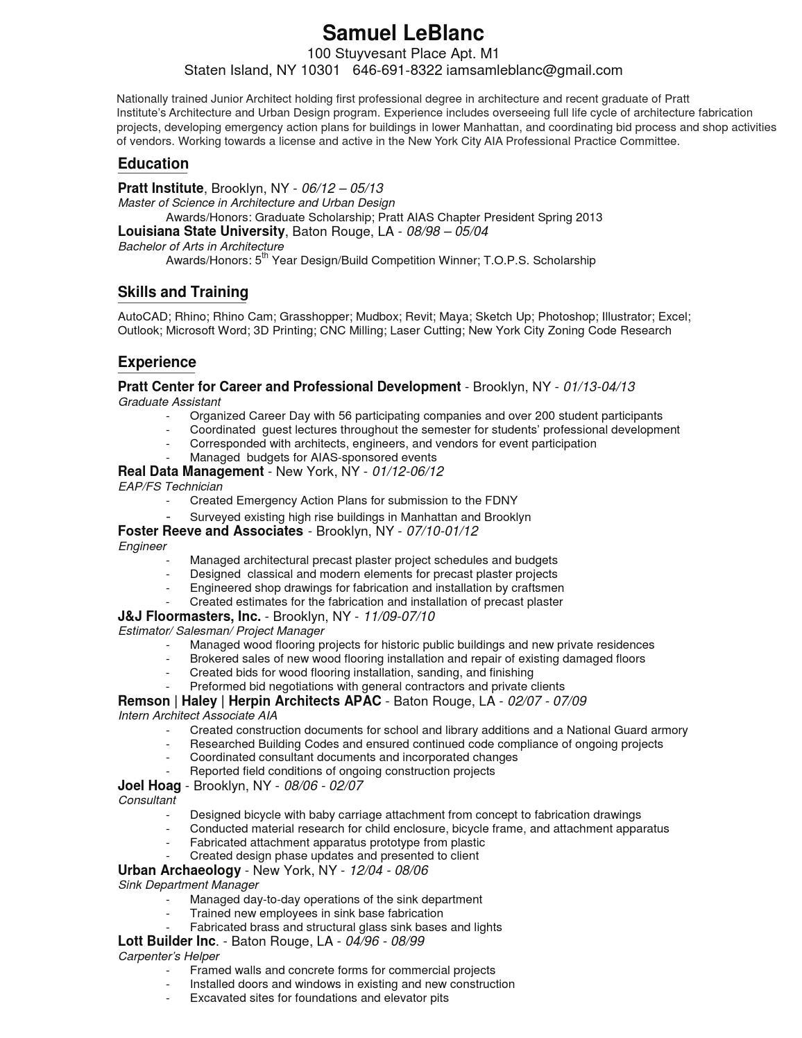 Sam leblanc resume and worksample by Sam LeBlanc - issuu