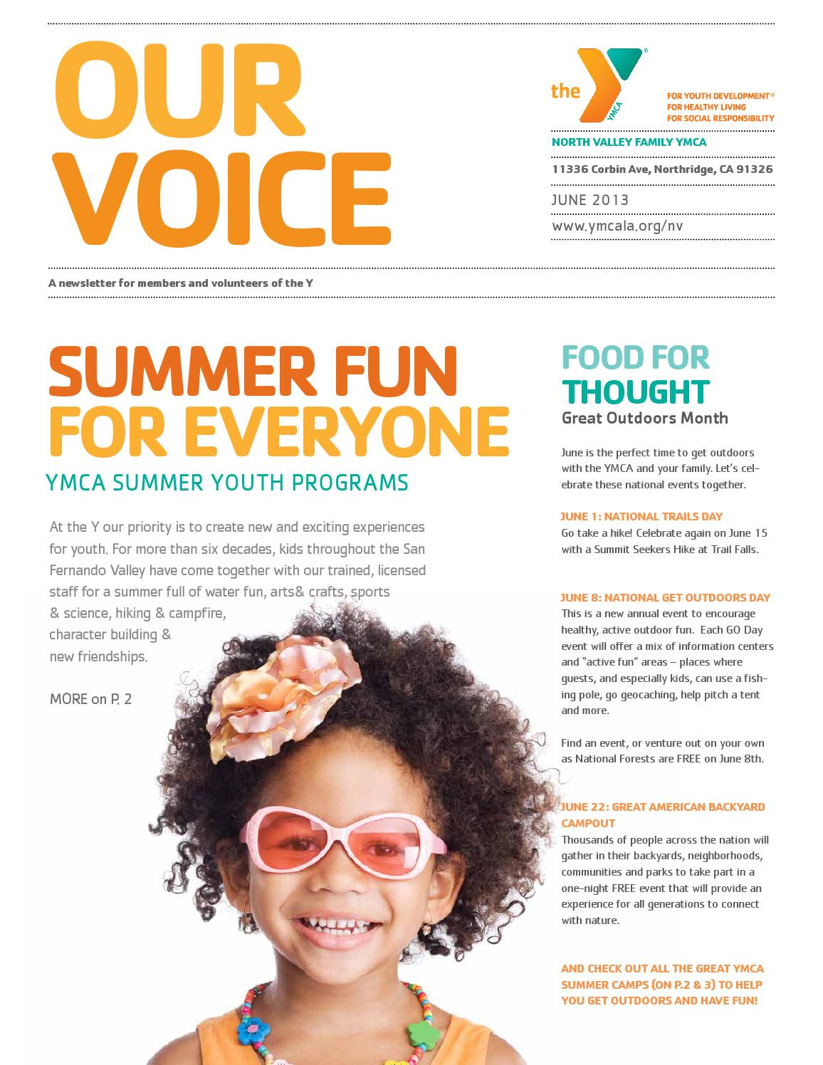 north valley family ymca at porter ranch june 2013 newsletter by