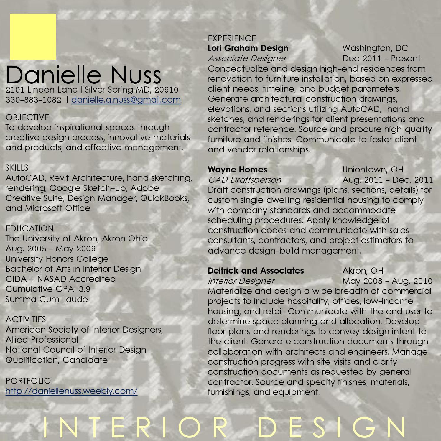 danielle nuss - resume by danielle nuss