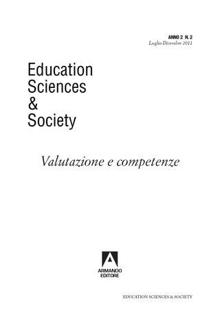 Education sciences society luglio dicembre 2011 by armando editore page 1 fandeluxe Images