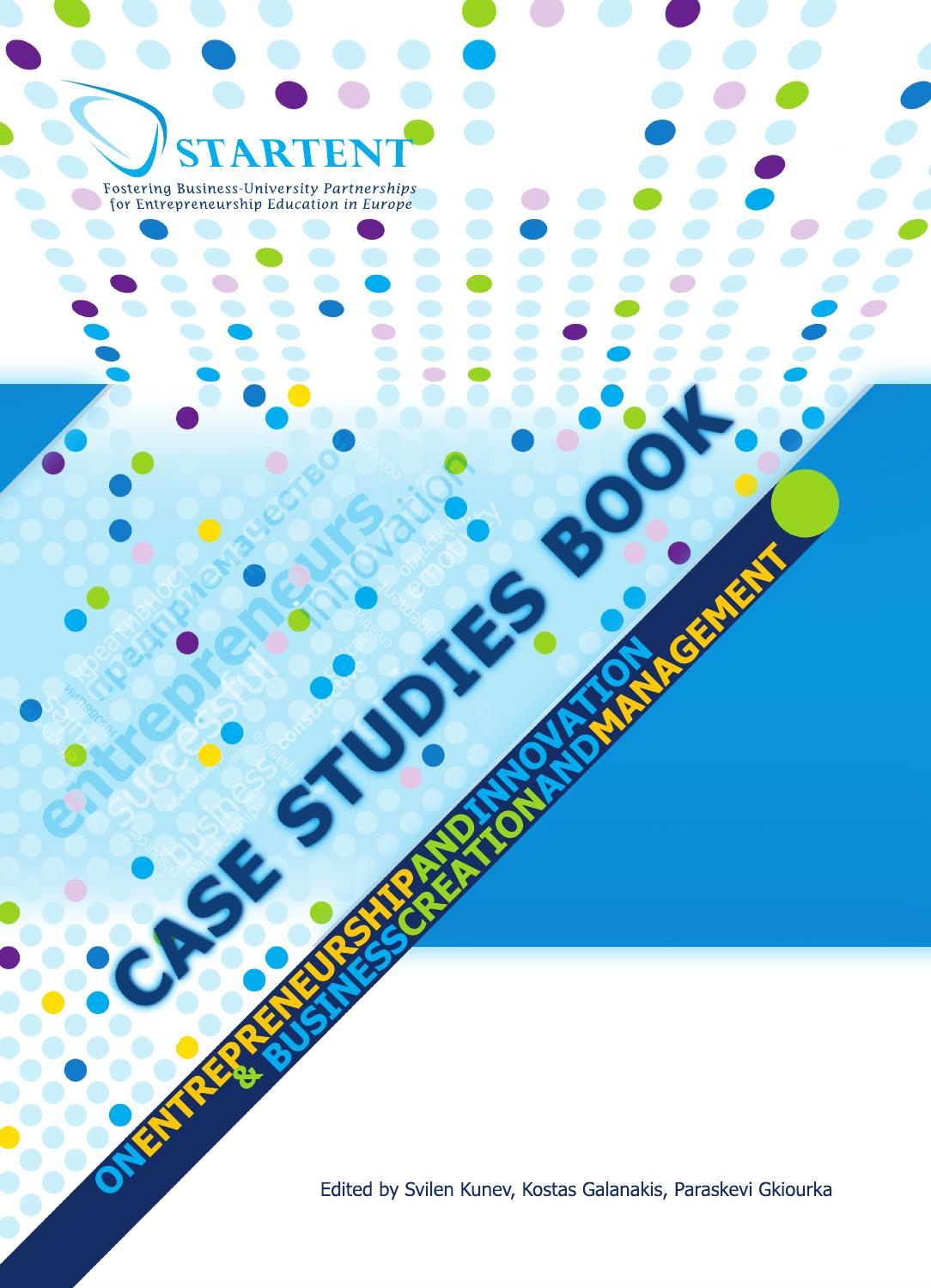 Case Studies Book On Entrepreneurship And Innovation Business