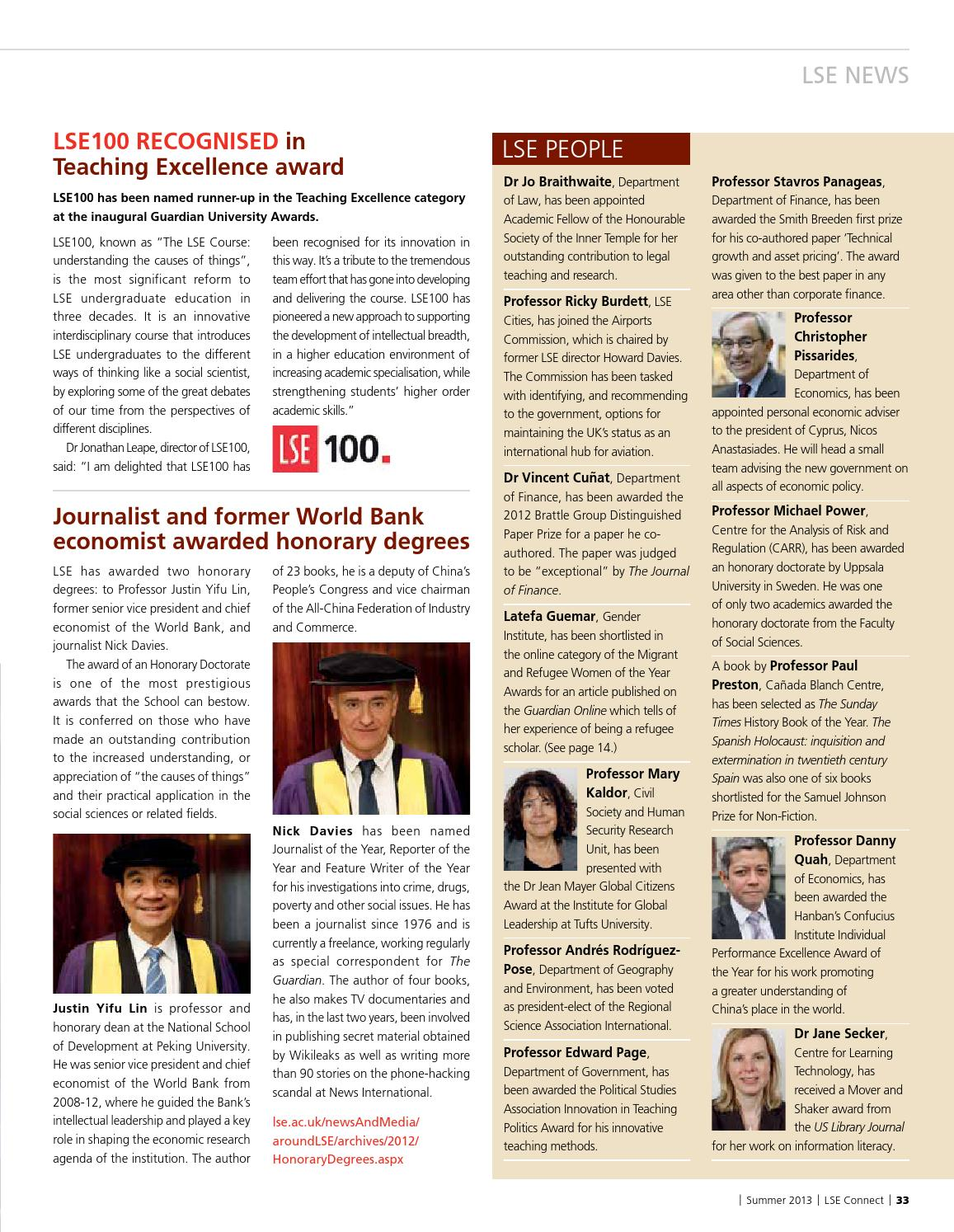 LSE Connect Summer 2013 by London School of Economics - issuu