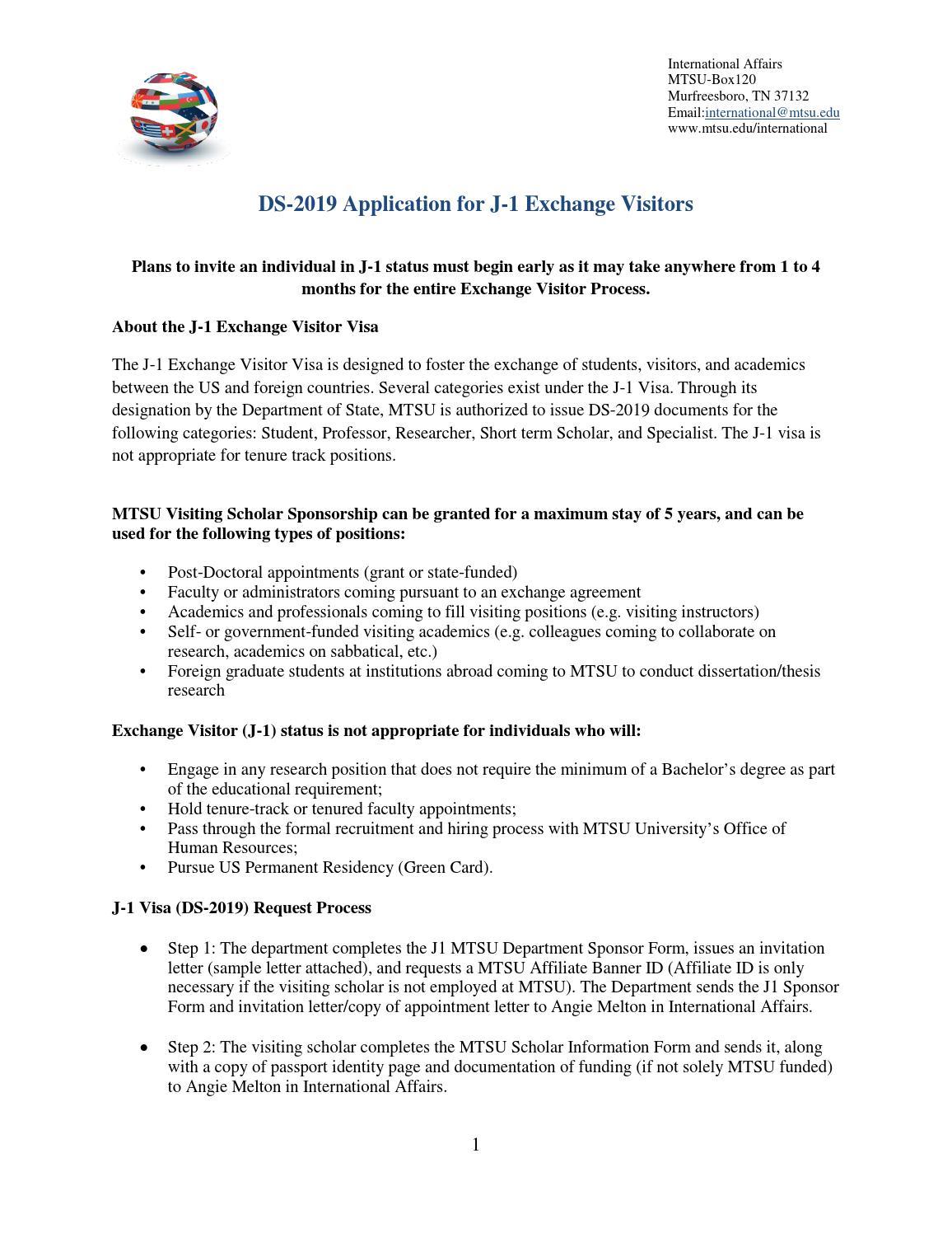 Mtsu Visiting Scholar J1 Packet 2013 14 By Wen Hu Issuu
