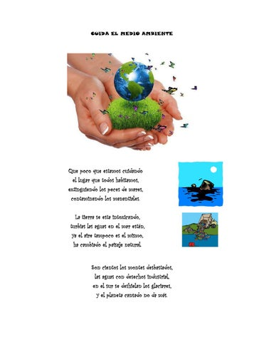 Poema Cuida El Medio Ambiente By Jennifer Issuu