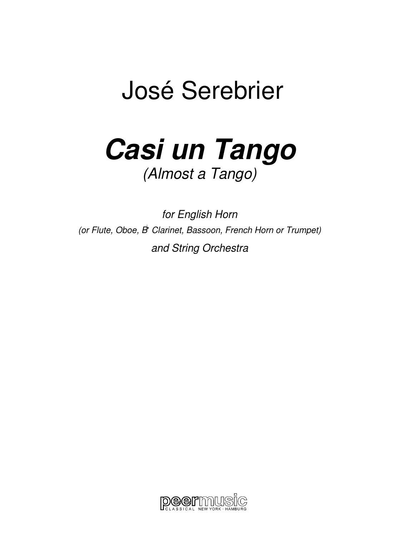 Casi un Tango: Cover Art