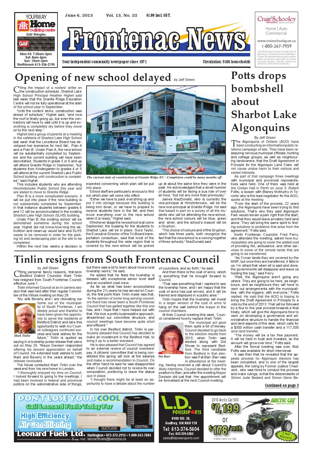 Vol 13 No 22 by Frontenac News - issuu