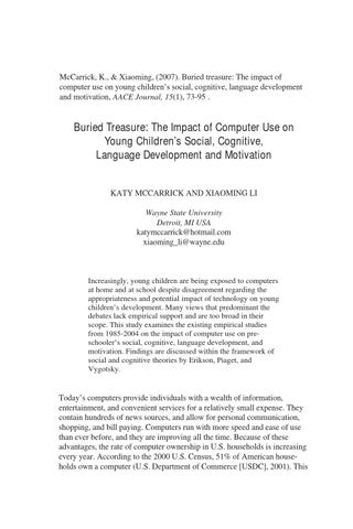 social impact of computer