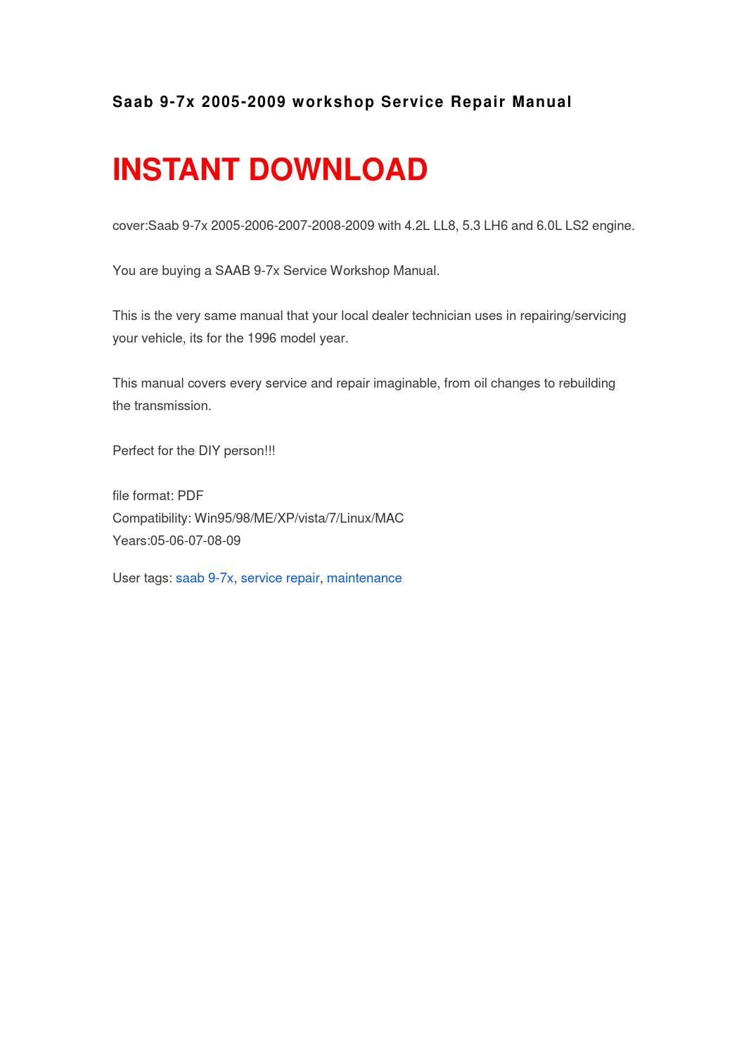 saab 9 5 repair manual pdf