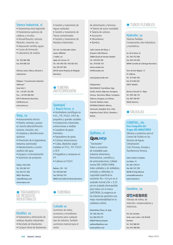 Industria Qumica Mayo 2013 By Infoedita Comunicacion Profesional Circuitos Miscelaneos Issuu