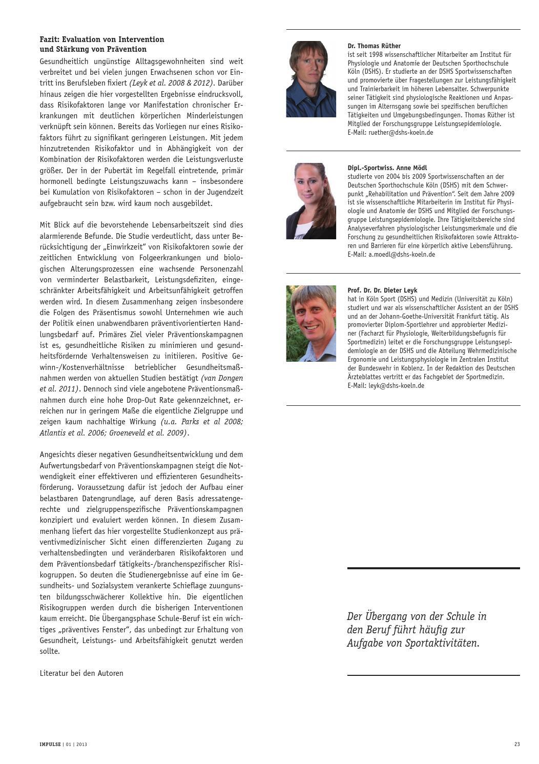 IMPULSE 1/2013 by Deutsche Sporthochschule Köln - issuu