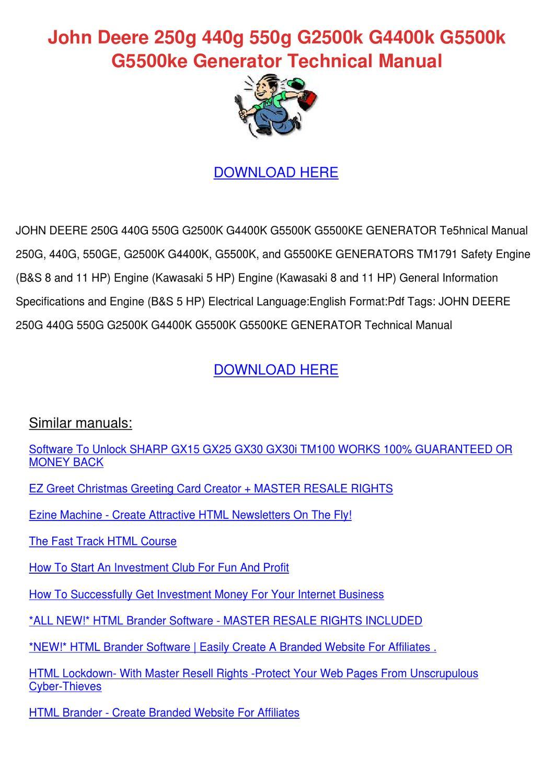 John Deere 250g 440g 550g G2500k G4400k G5500 by DominickChristy ...