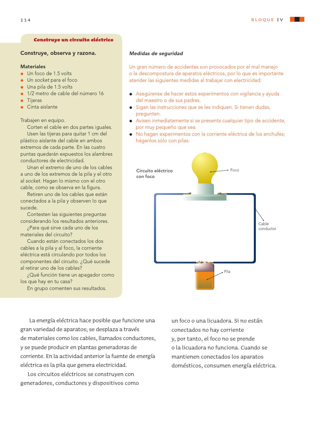 Circuito Electrico Simple : Ciencias naturales 5o. grado by rarámuri issuu