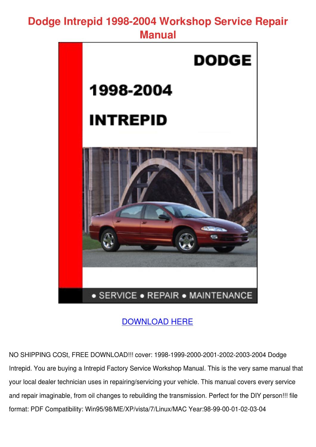 dodge intrepid 1998 2004 workshop service rep by gregoryegan issuu 2004 dodge intrepid repair manual 2004 dodge intrepid repair manual