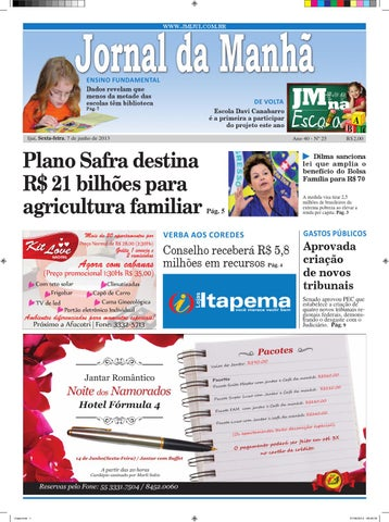 61c1fb199 Jornaldamanha07 06 2013 by Classificados Jornal da Manhã - issuu