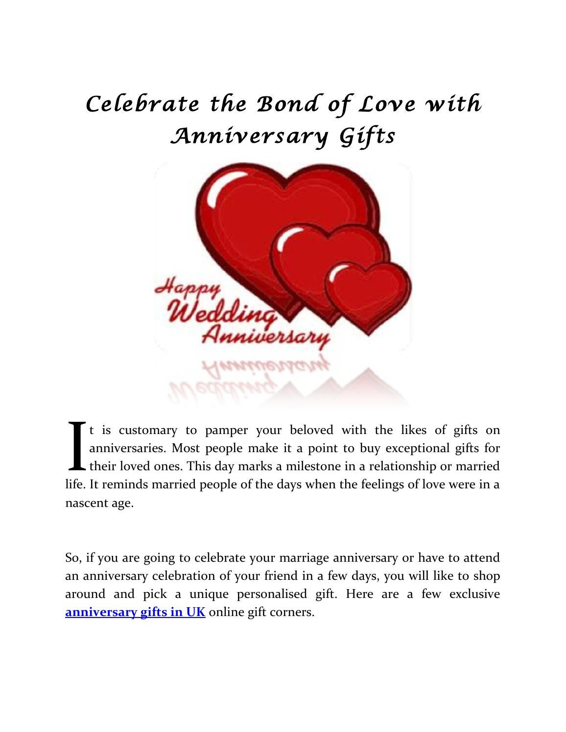 Celebrate The Bond Of Love With Anniversary Gifts By Suzy
