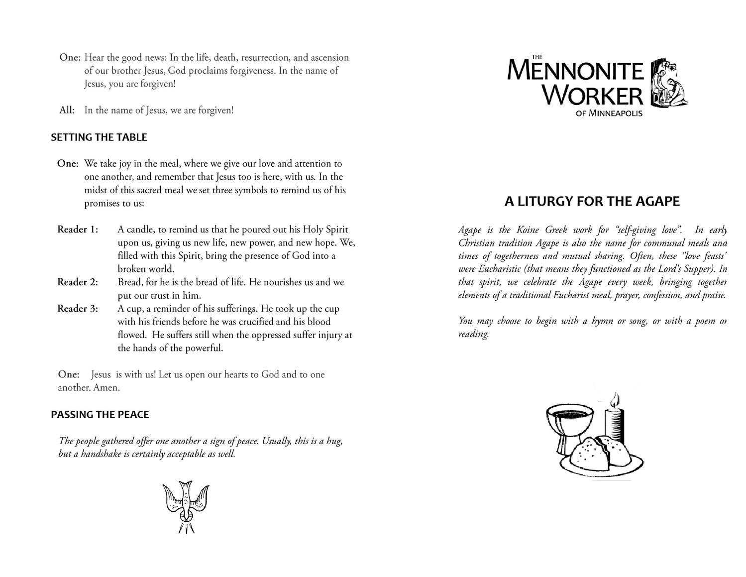 Agape 2 May 2013 By The Mennonite Worker Issuu