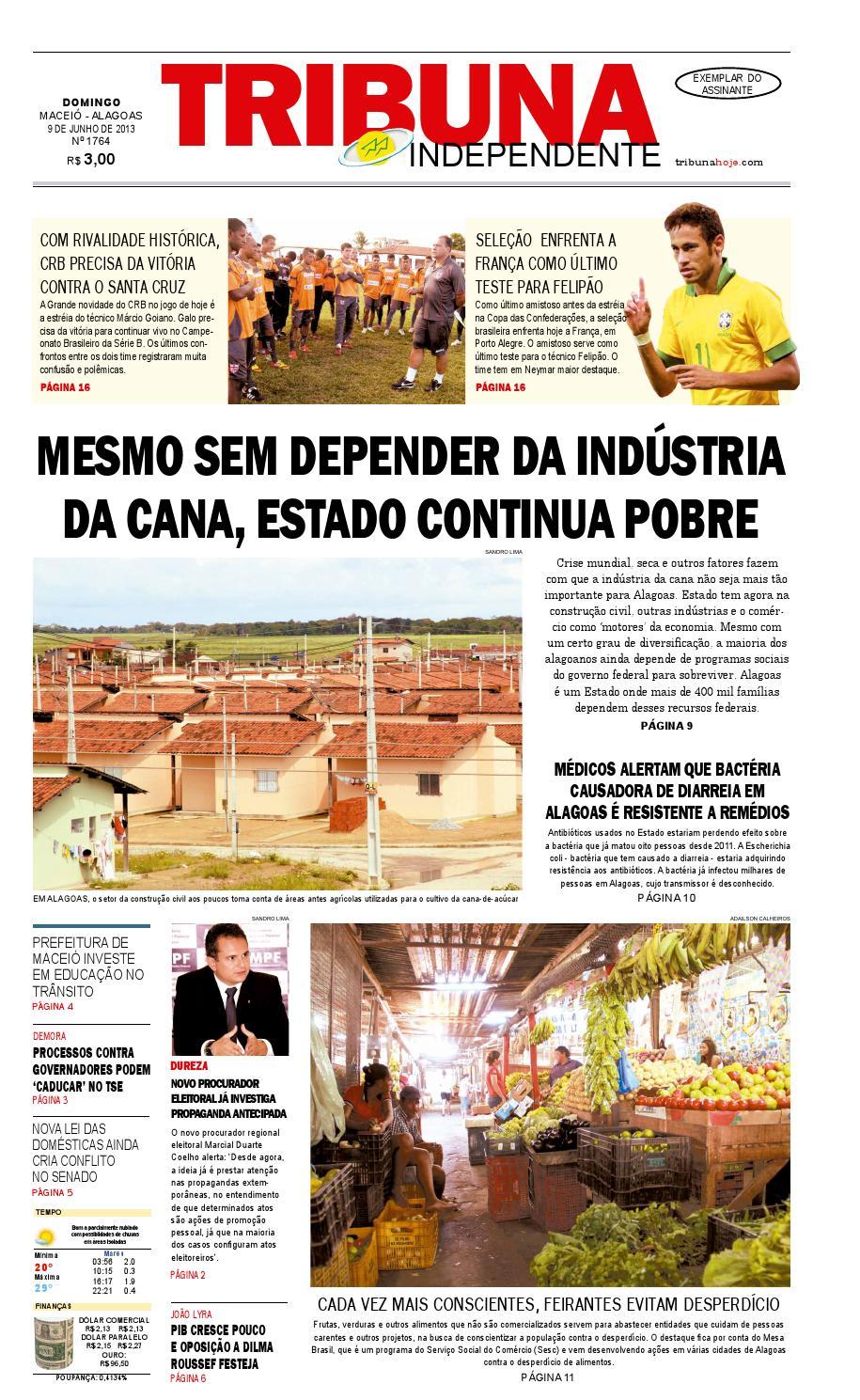 186bb9b8858de Edição número 1764 - 9 de junho de 2013 by Tribuna Hoje - issuu
