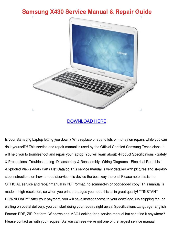 Samsung X430 Service Manual Repair Guide by AnastasiaWard - issuu