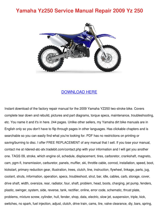 Yamaha Yz 400d Wiring Diagram