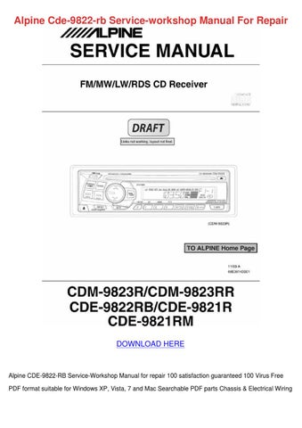 alpine cde 9874 wiring diagram alpine cde 9822 rb service workshop manual fo by deboracameron issuu  alpine cde 9822 rb service workshop