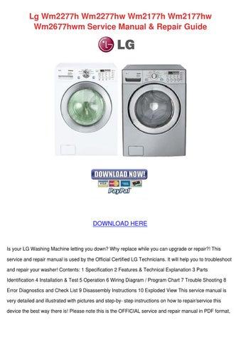 lg washing machine wm2277hw service manual free owners manual u2022 rh wordworksbysea com LG Tromm WM2277HW Diagram LG Tromm WM2277HW Diagram