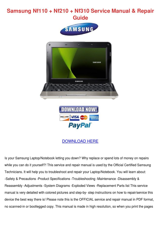 Samsung Nf110 Nf210 Nf310 Service Manual Repa by HermelindaFrey ...