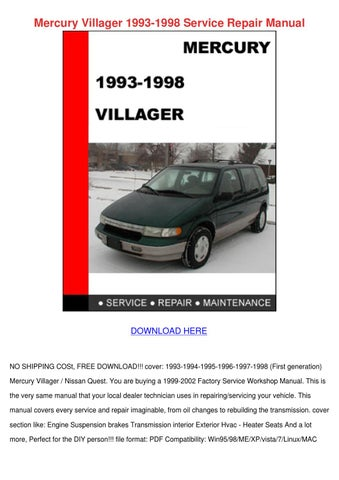 mercury villager 1993 1998 service repair man by marionklein issuu rh issuu com mercury villager repair manual pdf 2000 mercury villager owner's manual